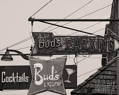 Poster featuring the photograph Barhopping At Buds 1 by Lee Craig