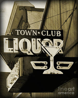 Poster featuring the photograph Barhopping At The Town Club 2 by Lee Craig