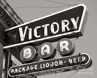 Poster featuring the photograph Barhopping At The Victory 1 by Lee Craig