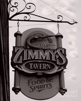 Poster featuring the photograph Barhopping At Zimmys 1 by Lee Craig