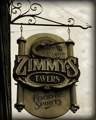 Poster featuring the photograph Barhopping At Zimmys 2 by Lee Craig