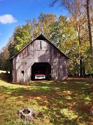 Poster featuring the photograph Barn An Chevy by Janice Spivey