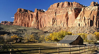 Poster featuring the photograph Barn At Capital Reef by Geraldine Alexander