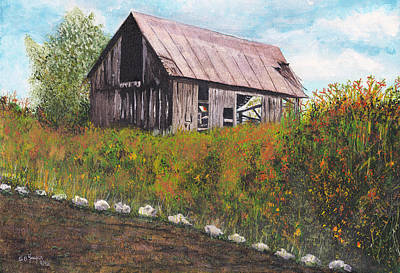 Poster featuring the painting barn Grahamsville NY by Stuart B Yaeger