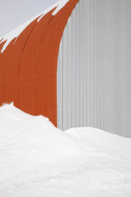 Barn In Snow Poster by Jeremy Woodhouse