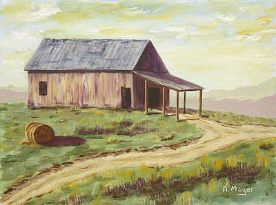 Barn On The Ridge Poster