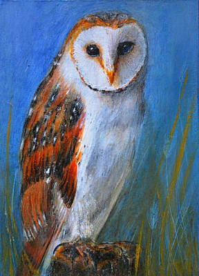 Poster featuring the painting Barn Owl by Lynn Hughes