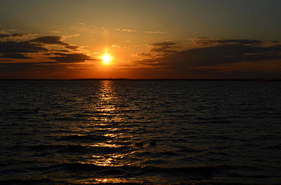 Barnegat Bay Sunset Poster by Brian Hughes
