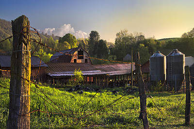 Barns In The Morning Poster