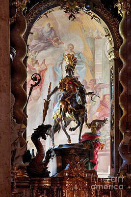Barock Altar Of Weltenburg Monastery Church Poster by Heiko Koehrer-Wagner