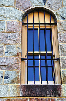 Barred Window - Trial Bay Jail Poster