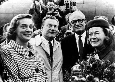Barry Goldwater 2nd From Right, Mrs Poster