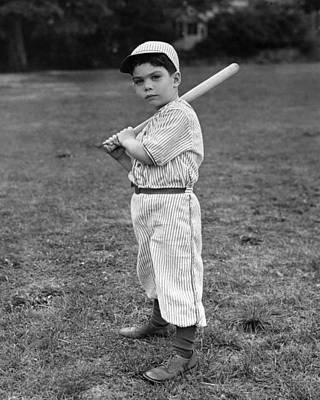 Baseball Player Poster by L M Kendall