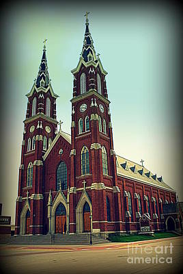 Basilica Of St.francis Xavier In Dyersville Iowa Poster by Susanne Van Hulst