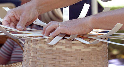 Poster featuring the photograph Basket Weaver by Wanda Brandon