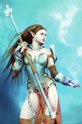 Battle Mage Poster by Melissa Krauss