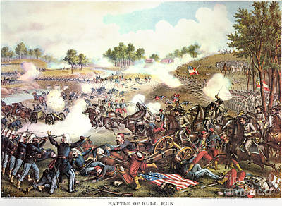 Battle Of Bull Run, 1861 Poster by Granger