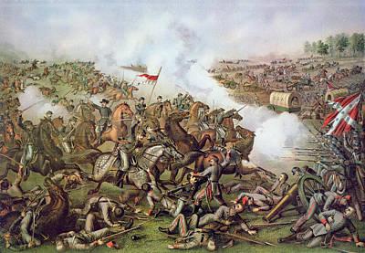 Battle Of Five Forks Virginia 1st April 1865 Poster
