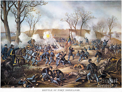 Battle Of Fort Donelson Poster by Granger