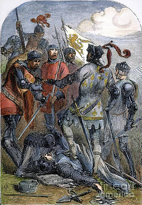 Battle Of Poitiers Poster by Granger