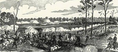 Battle Of Shiloh, 1862 Poster