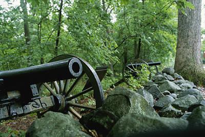 Battlefield Cannon, Gettysburg National Poster by Brian Gordon Green