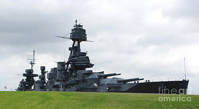 Battleship Uss Texas Poster by Michael Wood