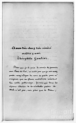 Baudelaire: Dedication Poster