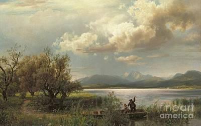 Bayern Landscape Poster by Augustus Wilhelm Leu