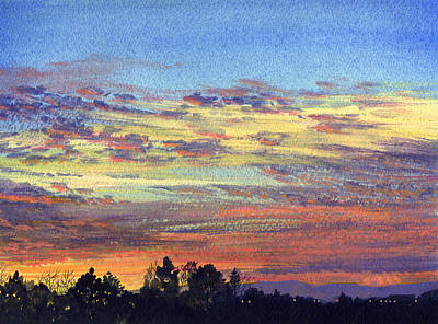 Baylands Sunset Poster