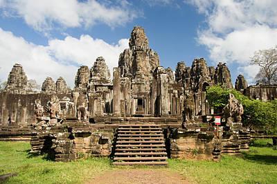 Bayon Temple In Cambodia Poster by Artur Bogacki