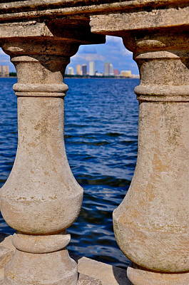 Bayshore Boulevard Balustrade Poster by William  Carson Jr