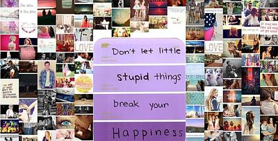 Be Happly Poster by Holley Jacobs