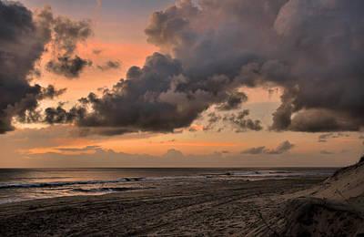 Beach Sunrise Obx  - C0983d Poster by Paul Lyndon Phillips