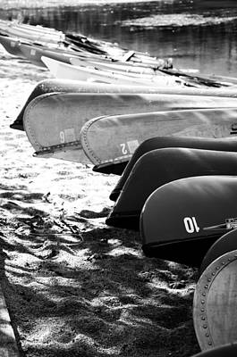 Poster featuring the photograph Beached Kayaks by Julia Wilcox
