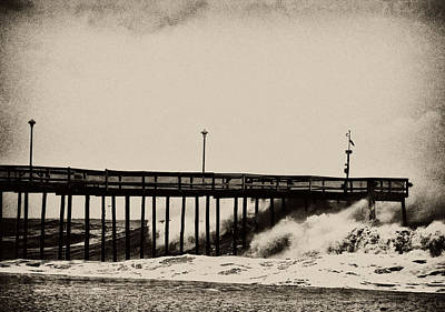Poster featuring the photograph Beatin' Pier by Kelly Reber
