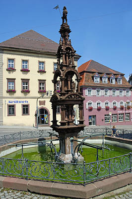 Beautiful Fountain Rottweil Germany Poster by Matthias Hauser