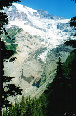 Poster featuring the photograph Beautiful Glacier by C Sitton