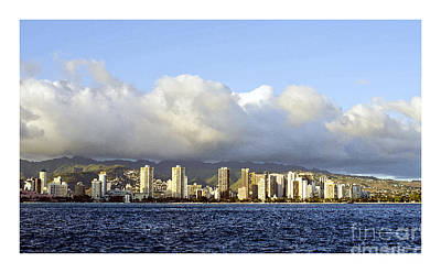 Beautiful Honolulu Skyline Poster by MaryJane Armstrong