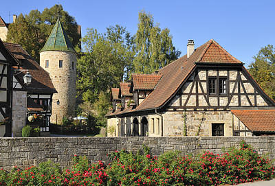 Beautiful Old Town Bebenhausen In Germany Poster