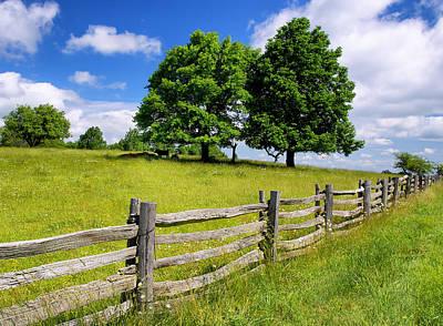 Beautiful Virginia Pasture Poster
