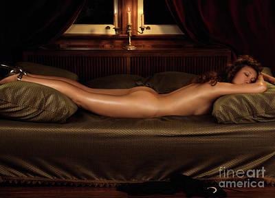 Beautiful Woman Sleeping Naked Poster by Oleksiy Maksymenko