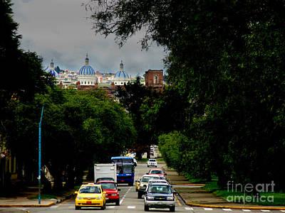 Beauty Of Avenida Solano In Cuenca Poster