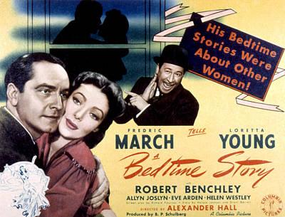 Bedtime Story, Fredric March, Loretta Poster by Everett