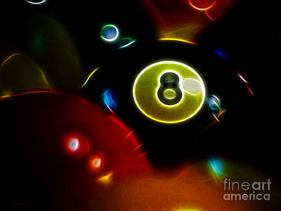 Behind The Eight Ball - Electric Art Poster by Wingsdomain Art and Photography