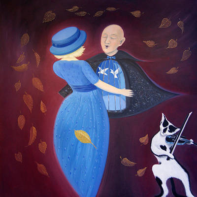 Poster featuring the painting Belgian Autumn Dance by Tone Aanderaa