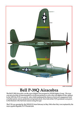 Bell P39q Airacobra Poster by Jerry Taliaferro