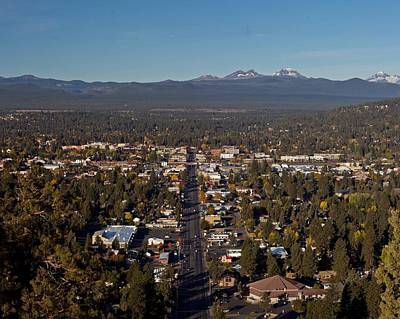 Bend Oregon From Pilot Butte Poster by Twenty Two North Photography