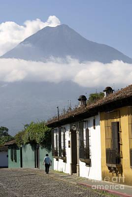 Beneath The Volcano Antigua Guatemala Poster