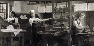 Benjamin Franklin The Printer Poster by Everett